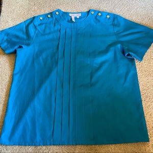 Top, True Vintage Aquamarine Short-Sleeve